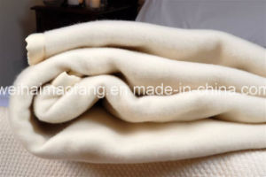 Woven Woolen 100%Pure Virgin New Wool Hotel Blanket pictures & photos
