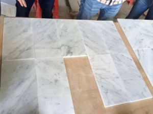 China New Natural Stone Polished White Marble Wall Flooring Tiles ...