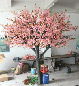 china indoor artificial cherry tree wedding decoration - china fake