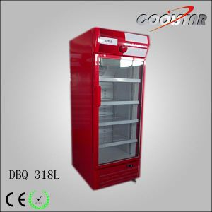 Transparent Single Glass Upright Cooling Display Showcase (DBQ-318L) pictures & photos