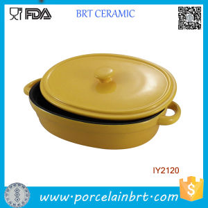 Hot Sale Kitchenware Ceramic Baking Dish with Lid Cookware pictures & photos