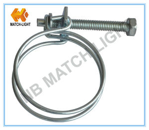 Galvanized Steel Zinc Plated Double Wire Hose Clamp pictures & photos