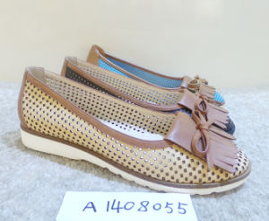 Hot Sale PU Material Women Driving Shoe (A1408055)