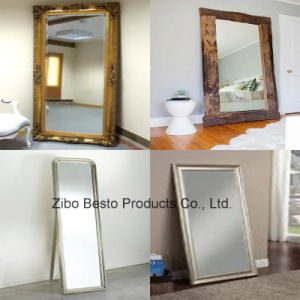 Industrial Reclaimed Wood Floor Mirror