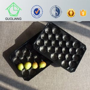 Popular Wholesale Persimmon Fruit Packaging White Black Plastic Tray Manufacturers pictures & photos
