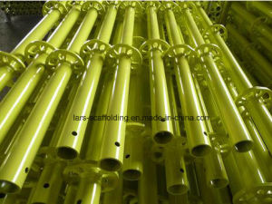 Yellow Painted Ringlock Scaffolding Standard for Construction Materials