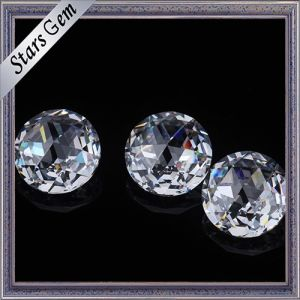 Round 5mm Brilliant Rose Cut White Color Cubic Zirconia Gemstones for Jewelry pictures & photos