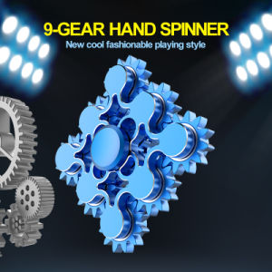 2017 New Design 9-Gear Finger Fidget Hand Spinner