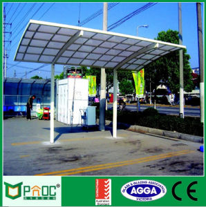 Aluminum Carport with PC Panel Roof pictures & photos