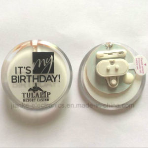 Merry Christmas Round LED Blinking Button Pin with Logo Printed (3569)