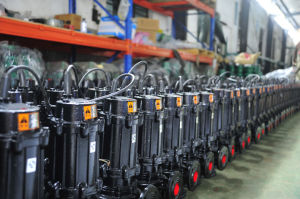 WQ Non-clog Electric Submersible Sewage Pump (WQ10-10-0.75) pictures & photos
