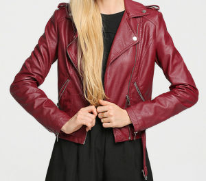 Cultivate One′s Morality Fake Leather Shorts Jacket Puj0701