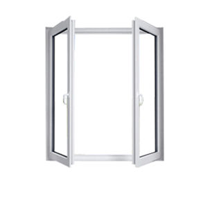 French Casement Window, PVC Outward Opening Glass Window pictures & photos