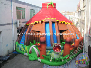 New Design Jurassic Dinosaur Inflatable Slide