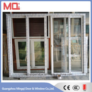Conch UPVC Profile Tempered Glass PVC Doors and Windows
