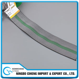 Wide 5 Inch Rubber Webbing Coloured Woven Elastic Tape for Sofa