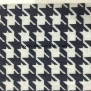 Double Face Houndstooth Wool Fabric Black&White pictures & photos