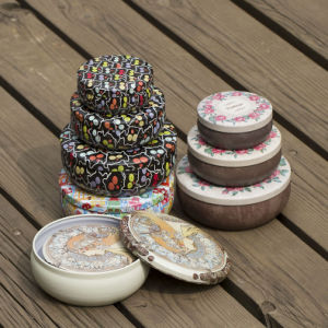 Seamless Oval Shaped Scented Candle Tin Box Set pictures & photos
