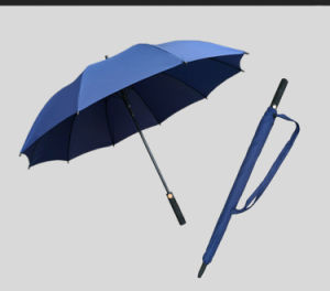 Automatic Open Windproof Black Golf Umbrella