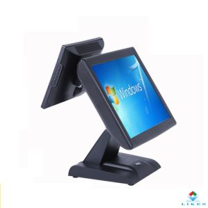 2 Screens POS Terminal / Dual Screen POS / POS System with Advertisement Display