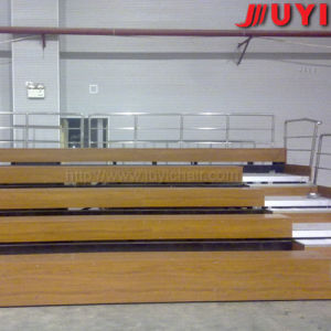 Juyi Factory Price Outdoor Sports Seats Platform Electric Telescopic Wooden Bleacher Aluminium Waiting Bench pictures & photos