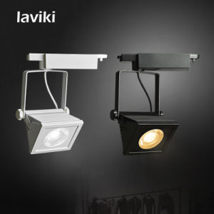 High Quality 20w 30w White Black Square Cob Led Track Rail Light For Clothing