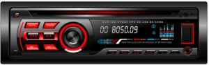 Single DIN Fixed Panel Car MP3 MP4 for DVD CD VCD Ringtones 606 pictures & photos