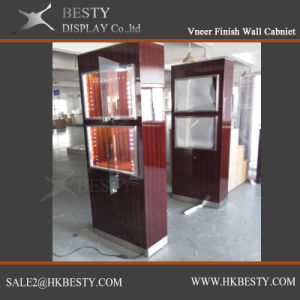 Veneer Jewelry Display Showcase with LED Light