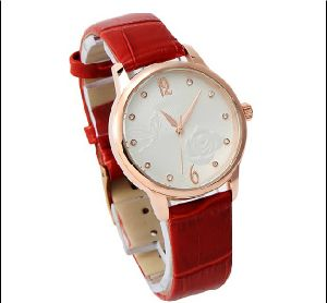 2015 Leather Fashion Bracelet Lady Watch