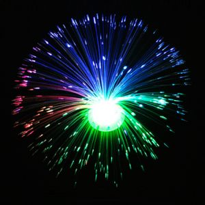 Colorful Changing LED Fiber Optic Night Light Small Night Lamp for Kids Bedroom Decoration
