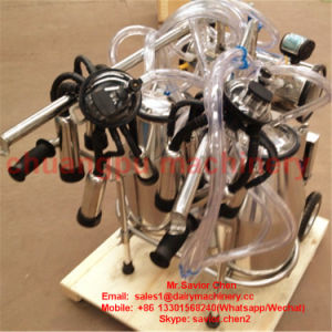 Double Cow Mobile Milking Machine Hl-Jn02 pictures & photos