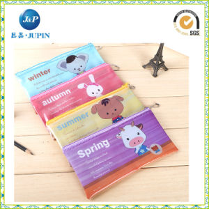 Printed PVC Zipper Pen Bag with MOQ 3000 (JP-plastic040) pictures & photos