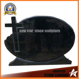 Cheap Black Granite Tombstone Memorial Sculpture pictures & photos