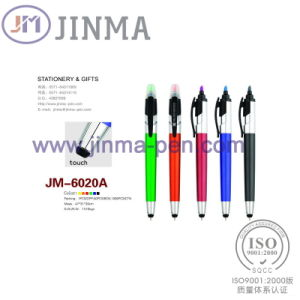 The Promotion Highlighter Ballpoint Pen Jm--6020A with One Stylus Touch
