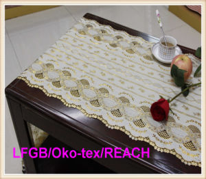 PVC Beautiful Long Lace Table Runner in Roll pictures & photos