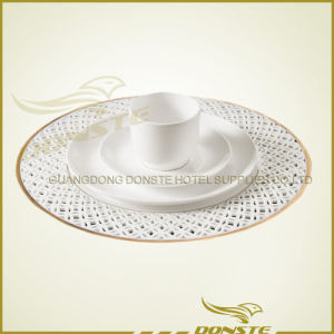 Stained Ceramic Plates Golden Table Combination Plate Series
