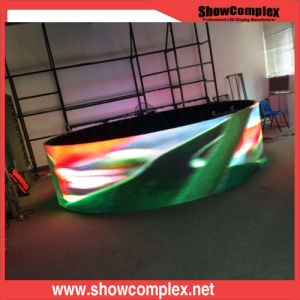 P3.91 Curved Indoor Full Color LED Display Board for Show