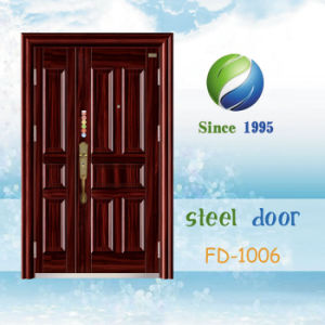 China Newest Develop and Design Single Steel Security Door (FD-1006) pictures & photos
