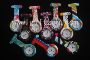 Metal Clip  Hands Print Silicone Nurse Watch Glow in Dark