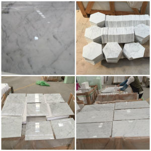 Bianco Carrara Statuario White Marble For Laminate Flooring Stone Tiles