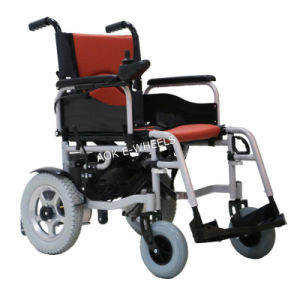 Foldable Electric Wheelchair with Electromagnetic Brake (PW-002) pictures & photos