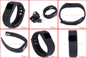 Pedometer Bluetooth, Silicone Wristband Pedometer pictures & photos