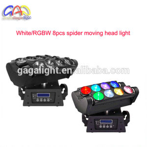 8PCS 4 In1 RGBW 10W LED Disco Spider Light/Spider Beam Moving Head Light pictures & photos