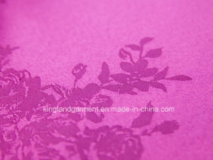 Polyester Quality Jacquard Rose Damask Design Wide Width Table Cloth pictures & photos
