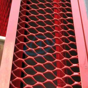 Red Color Expanded Aluminum Mesh Panel pictures & photos