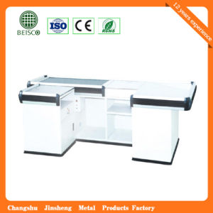 Supermarket Retail Stainless Cash Counter with Conveyor Belt pictures & photos