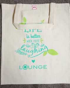 Cotton Tote Bags with Two Short Handles