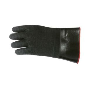 Black Coated Rubber Gloves with Red Edge Heat Resist