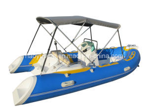 4.2m Fiberglass Inflatable Boats with Orca Hypalon for Fishing Boats, Leisure Boat, Rowing Boats pictures & photos
