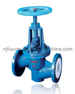 Cast Steel and Stainless Steel FEP Lined Globe Valve pictures & photos